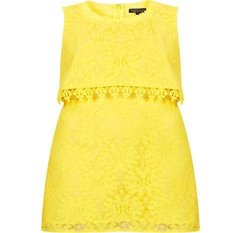 Topshop Wheel Lace Crop Dress