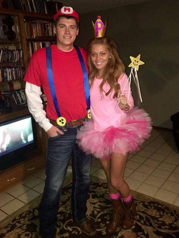 Mario Princess Peach Video Game Cosplay Halloween Costume Ideas