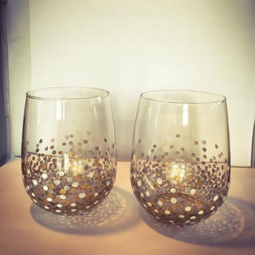 wine glasses single valentines gift