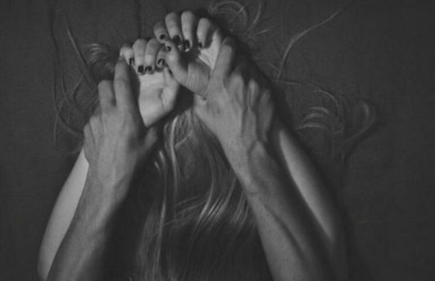 grabbing wrists