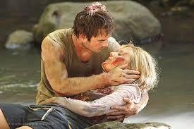 Ian Somerhalder and Maggie Grace on Lost