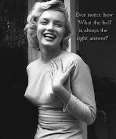 Marilyn DGAF