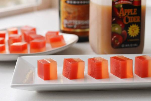 Apple Cider and Buttered Rum Jello Shots