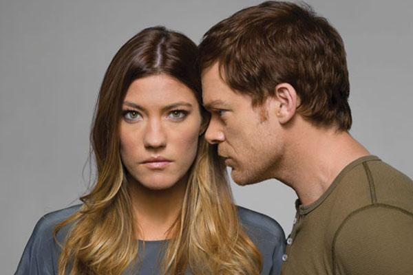 Jennifer Carpenter and Michael C. Hall as Deb and Dexter