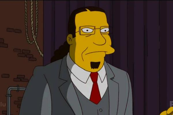 Penn Jillette from The Simpsons