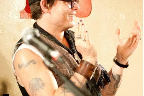johnny depp tattoos guitar