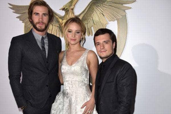 Jennifer Lawrence, Josh Hutcherson and Liam Hemsworth
