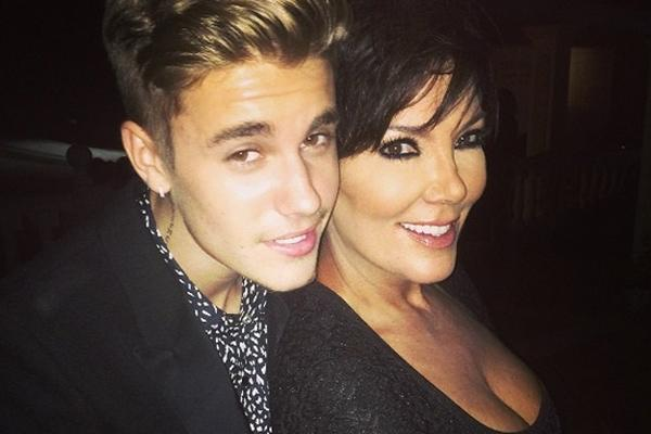 justin bieber and kris jenner hanging out