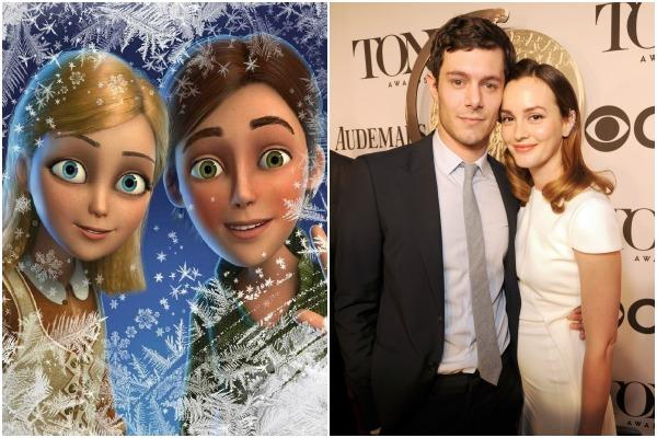 Kai and Gerda of Disney's 'Frozen' and Leighton Meester and Adam Brody