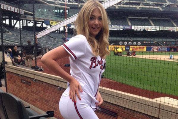 Kate Upton at a baseball game