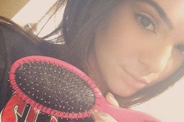 Kendall Jenner Brushing Hair