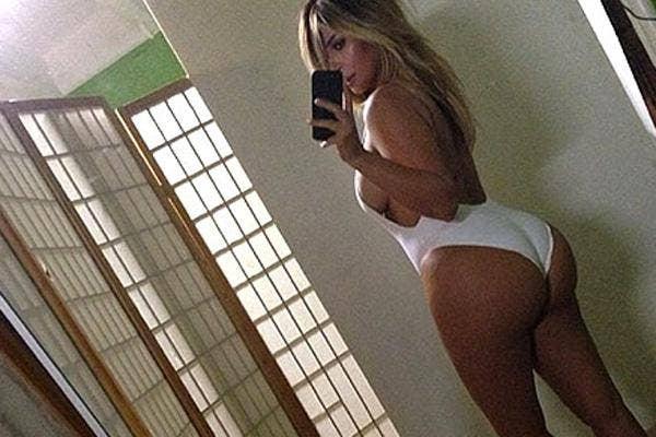 kim kardashian butt bathing suit