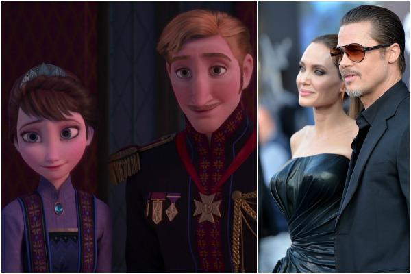 King Agdar and Queen Idun of Arendelle in Disney's 'Frozen,' Brad Pitt and Angelina Jolie