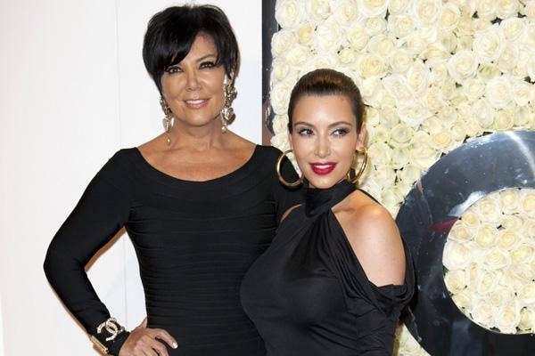 kris jenner kim kardashian wearing all black