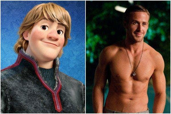 Kristoff of Disney's 'Frozen' and Ryan Gosling