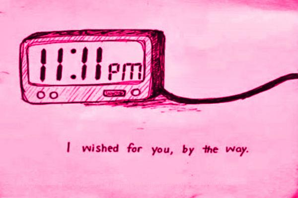 wishing on clock