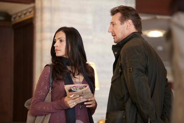 famke janssen and liam neeson as lenore and bryan mills in taken and taken 2