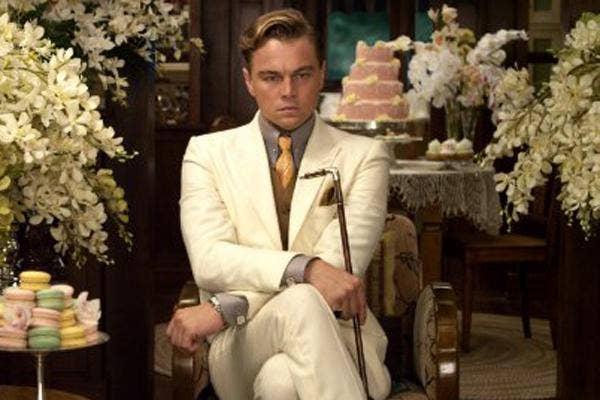 leonardo dicaprio as jay gatsby in the great gatsby movie