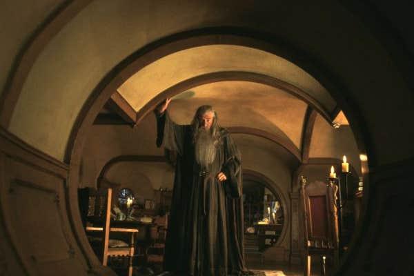 Sir Ian McKellen as Gandalf in LOTR