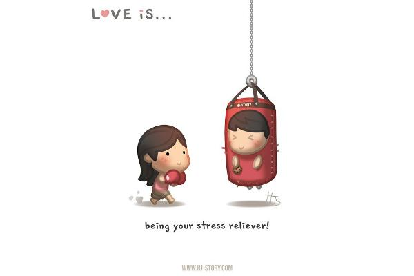 Love is a stress reliever.