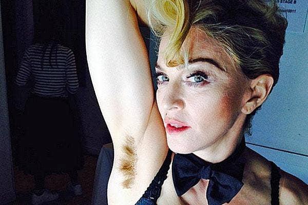 madonna instagram armpit hair