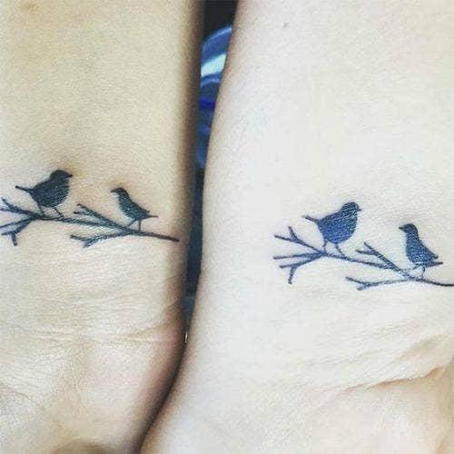 birds mother daughter tattoos