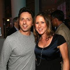 Anne Wojcicki & Sergey Brin