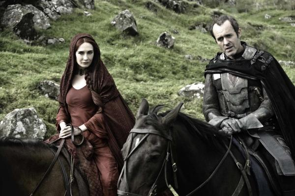 Stannis and Melisandre at Castle Black.