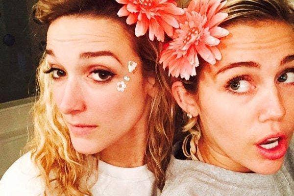 Miley with flower headband