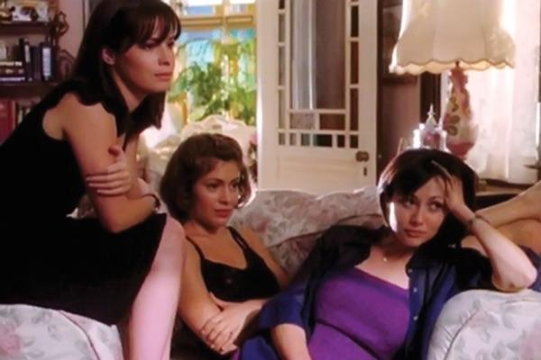Alyssa Milano and Shannen Doherty from Charmed