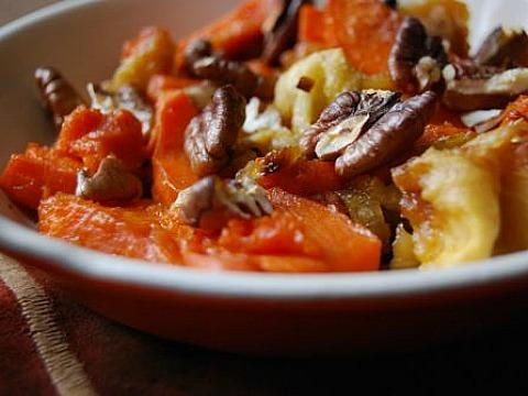 Sweet Potatoes with Fennel Apple and Pecans