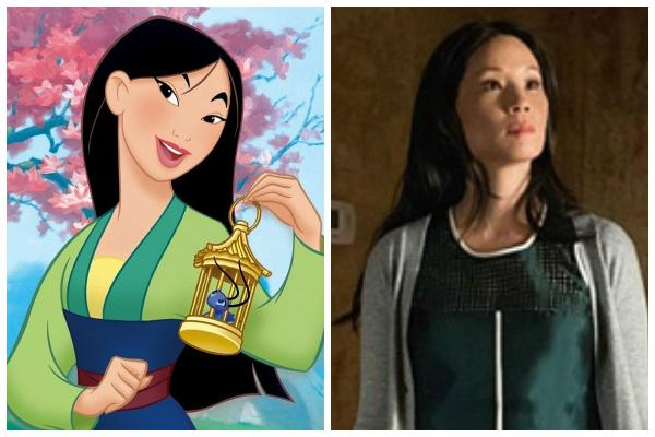 """Mulan and Lucy Liu in """"Elementary"""""""