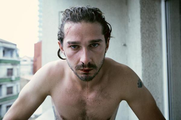 Shia LaBeouf bloody nose naked losing virginity first time sex