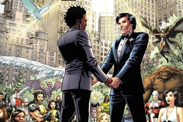 Northstar from Astonishing X-Men 51 marvel comics lgbt superheroes super hero lgbtq gay lesbian bisexual same-sex marriage gay marriage