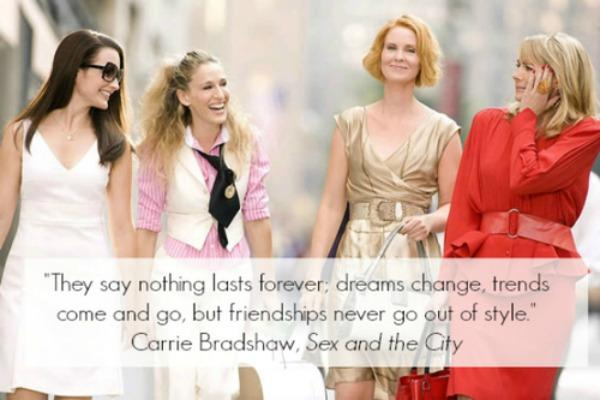 Friends quotes from sex and the city