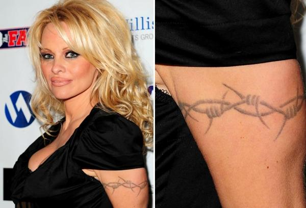 Pam Anderson arm tattoo
