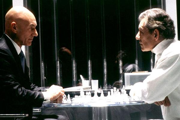 "Super Dysfunctional Superhero Couples: Patrick Stewart and Ian McKellen as Professor X and Magneto in ""X-Men"""