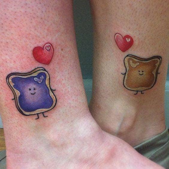 pb&j mother daughter tattoos