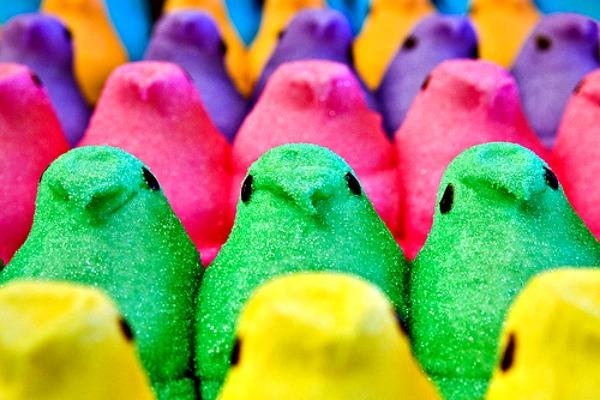 Peeps eyes used to be done by hand.