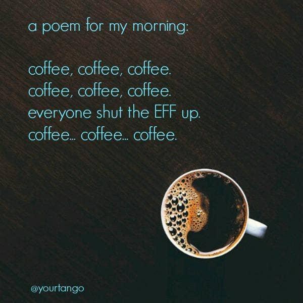 funny coffee poem