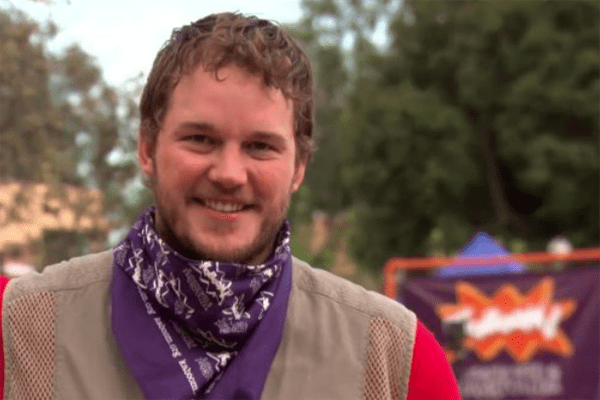 Chris Pratt as Andy Dwyer on Parks and Recreation