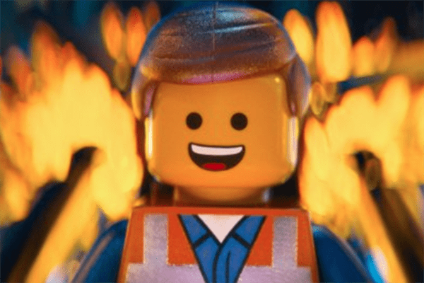 Chris Pratt in the Lego movie