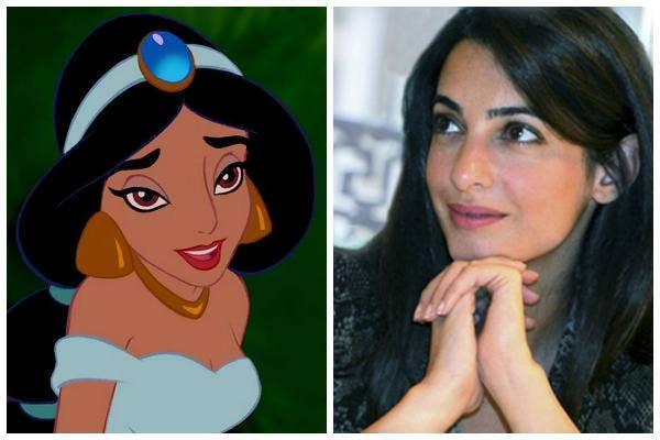 Princess Jasmine of Disney's Aladdin and Amal Alamuddin