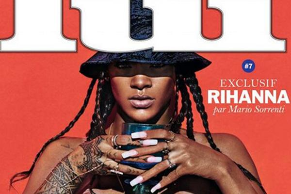 rihanna mag cover topless