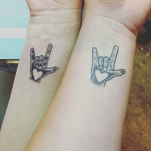 rock on love mother daughter tattoos