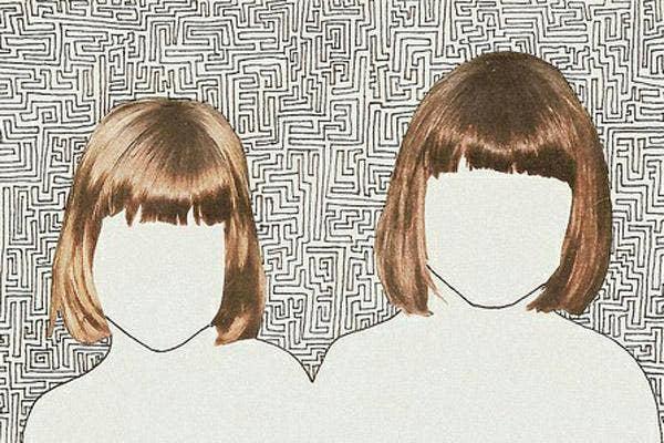 bridesmaid, bridesmaids, bridal party, same haircut, matching haircut