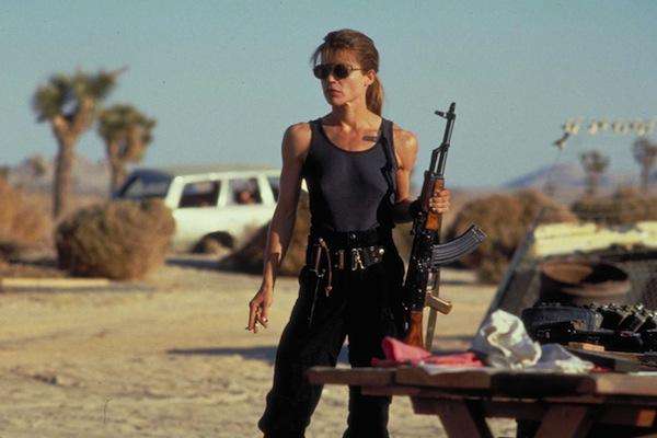 Linda Hamilton as Sarah Connor in 'Terminator 2: Judgement Day'