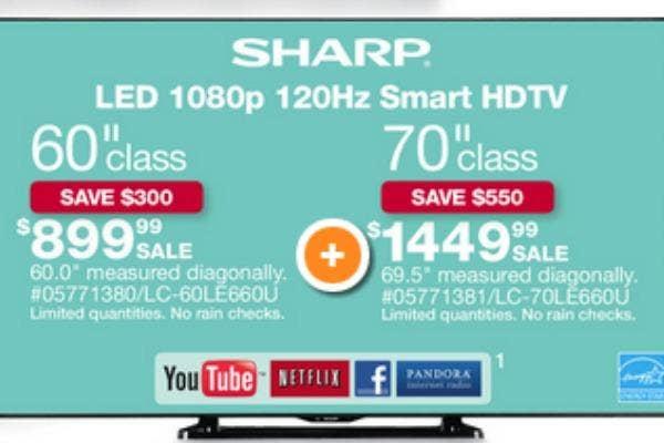 Sharp Smart LED 60'' HDTV