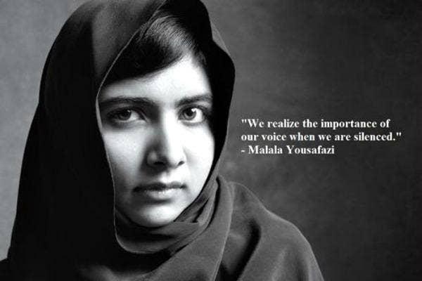 Malala Yousafzai Quotes Inspirational Quotes Women's Rights