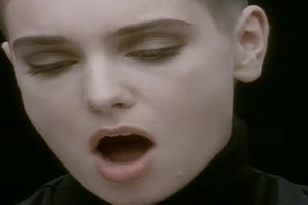 Sinead O'Connor in Nothing Compares 2 U